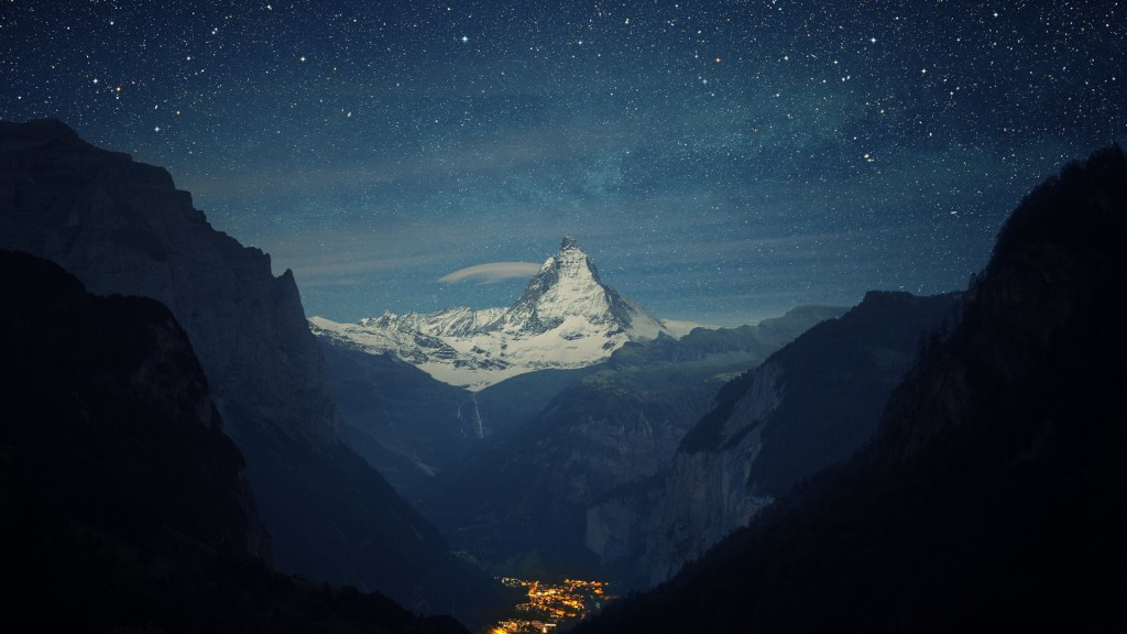 Matterhorn_Mountain_Night_Stars_Landscape_Town_Valley_1920x1080